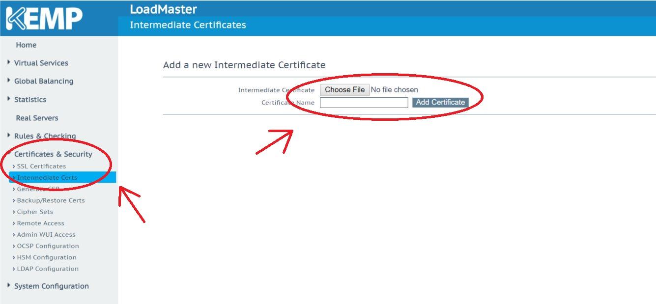 Downloading Intermediate Cert From Browser Kemp Technologies