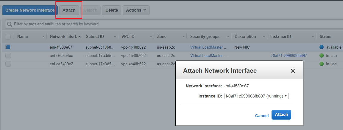 Amazon Web Services - How to Add Additional Network Interface – Kemp