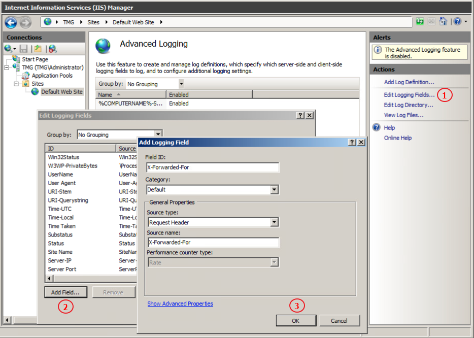 Adding The X-Forwarded-For Header and Configuring IIS Logging – Kemp