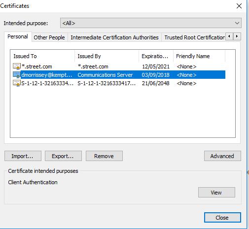ESP Configure Client Certificates – KEMP Technologies