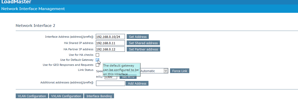 LoadMaster routing best practices within two or more