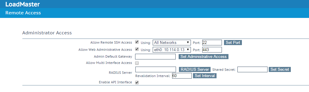 Securing the LoadMaster Access – Kemp Technologies