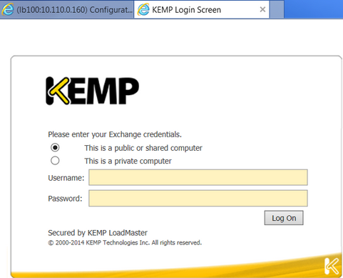 Forms Based - In particular browsers, the ESP Login Form